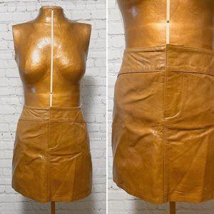 Gap Leather Mini Skirt NWOT